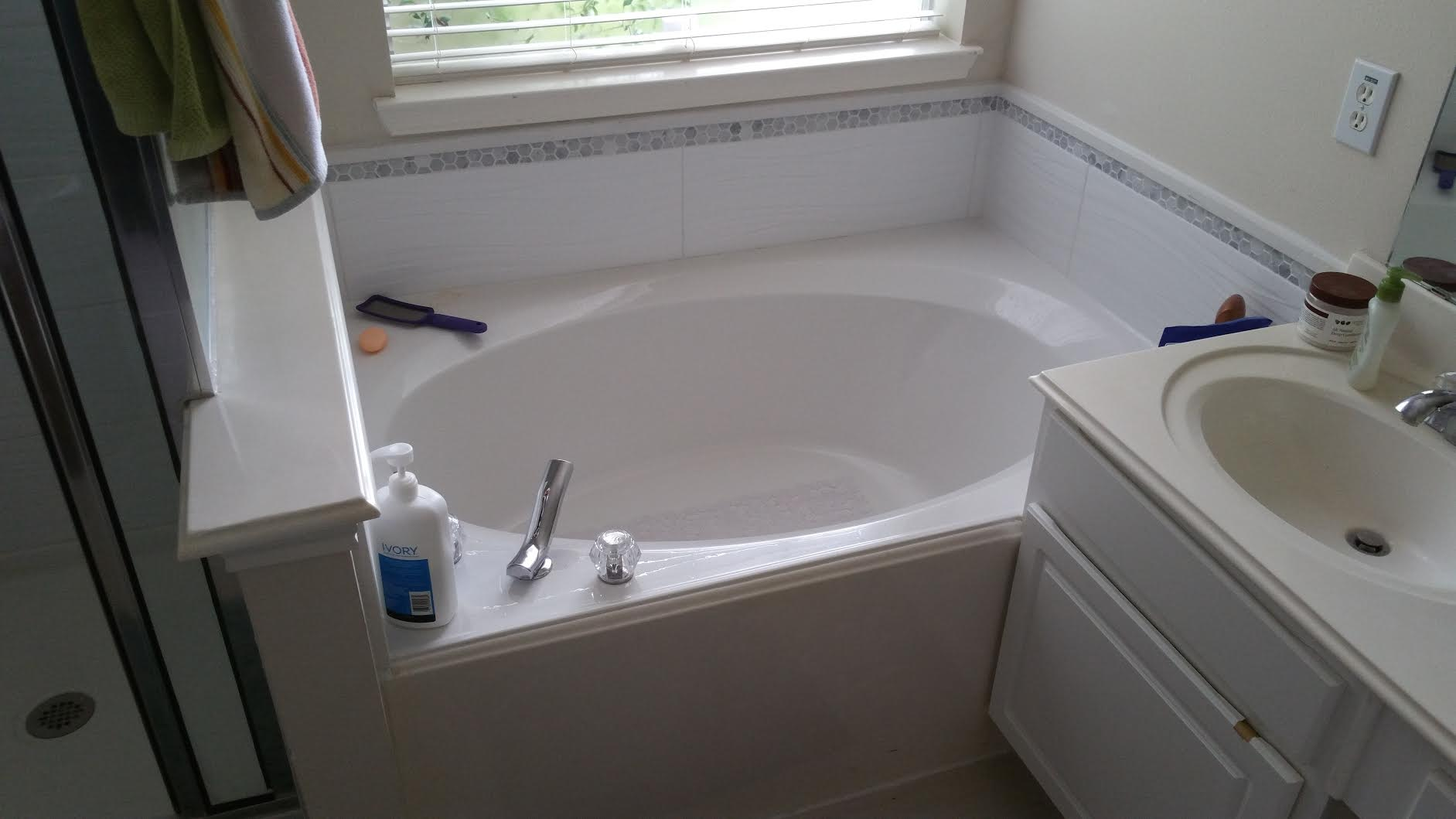 Light bathroom remodel houston remodeling contractors for Bathroom contractors