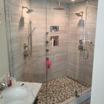 Houston Remodeling Contractors Contructs A New Rain Shower with Body Jets and A Steamer