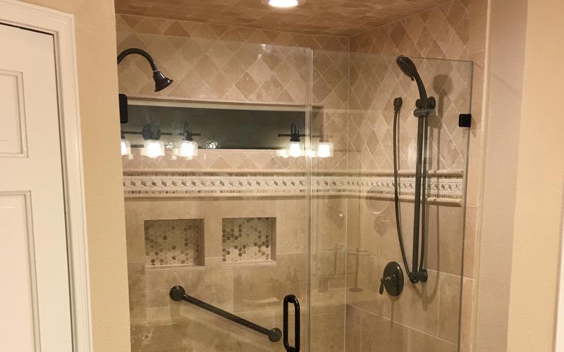 Shower door and shower glass pics
